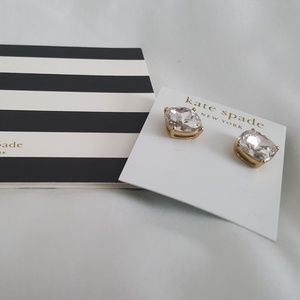 Kate Spade Square Stud Clear Stone Earrings